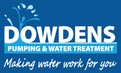 Dowdens Pumping & Water Treatment Logo Reverse with Tagline