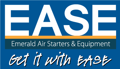 Emerald Air Starters & Equipment Logo Reverse with Tagline