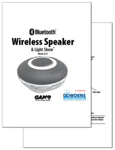 GAME Wireless Pool Speaker Brochure