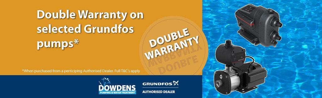 Grundfos Double Warranty Pumps
